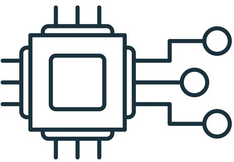 Embedded System outline icon. Thin line style industry 4.0 icons collection. UI and UX. Pixel perfect embedded system icon for web design, apps, software usage.