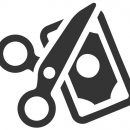 Beautiful, Meticulously Designed  Cut Cost Icon